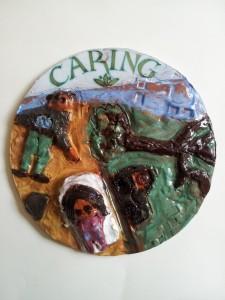 Caring-ceramic roundel - Tree of Life Blair Peach Primary School