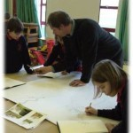 designing the tree as a composite from pupils drawings